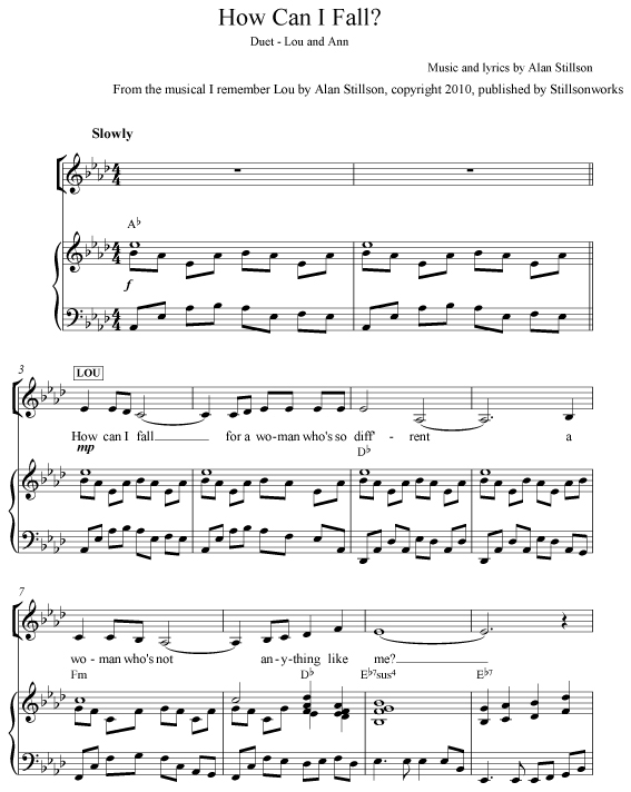 How Can I Fall? Sheet Music